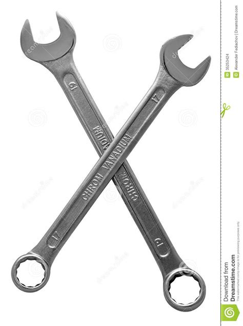 two crossed wrenches stock images image 35253424