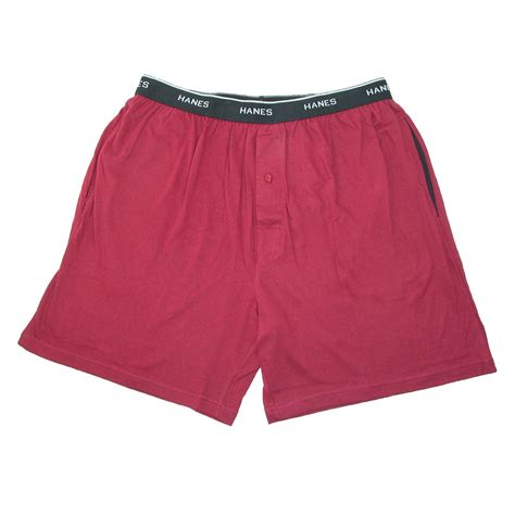 Mens Cotton Jersey Knit Sleep Shorts With Exposed