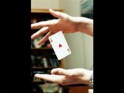 how to make a card float how to do the floating card trick