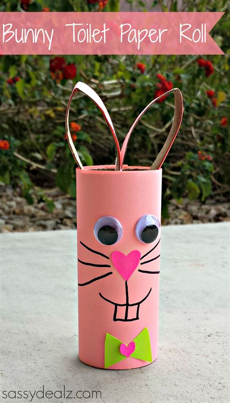 bunny toilet paper roll craft easy bunny crafts for crafty morning