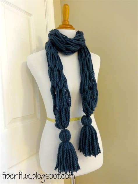 arm knitting scarf fiber flux free knitting pattern arm knit tassel scarf