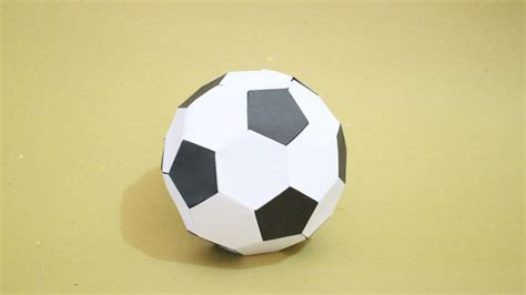 origami football how to origami soccer size 2 black white