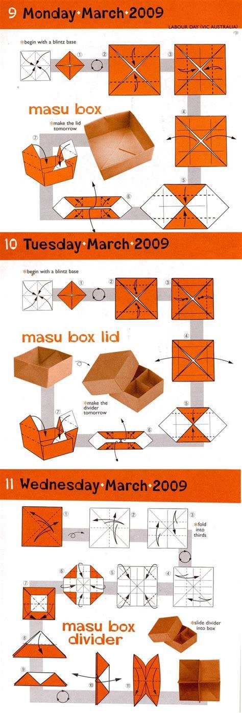 origami masu box simple masu box with lid and divider origami