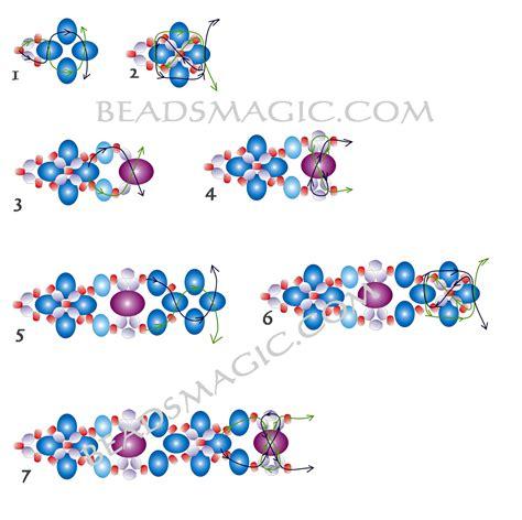 free printable seed bead patterns free pattern for beautiful beaded bracelet palermo