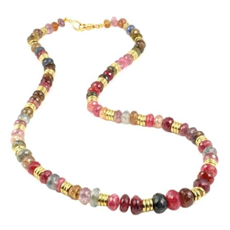 multi coloured bead necklace multi color sapphire bead necklace at 1stdibs