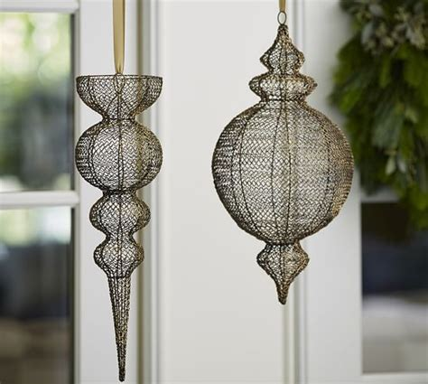 outdoor hanging ornaments hanging wire outdoor ornaments pottery barn