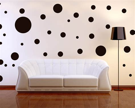 wall deco stickers 64pcs lot 6size mixed polka dots wall decal assorted size