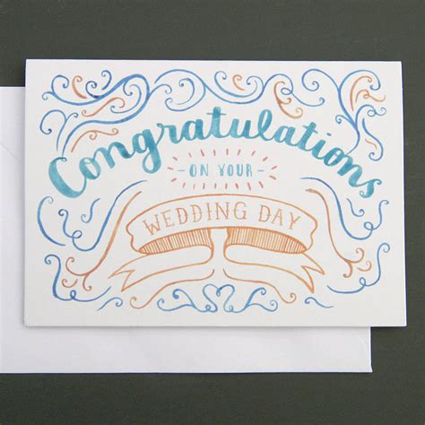 how to make a congratulations card congratulations wedding card by nic farrell illustration