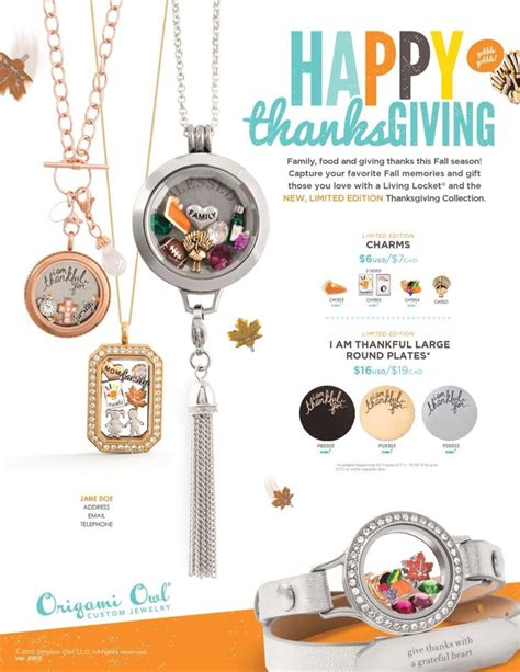 new origami owl new thanksgiving collection from origami owl