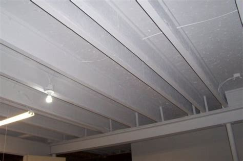 spray painting unfinished basement ceiling low ceiling basement remodeling pictures