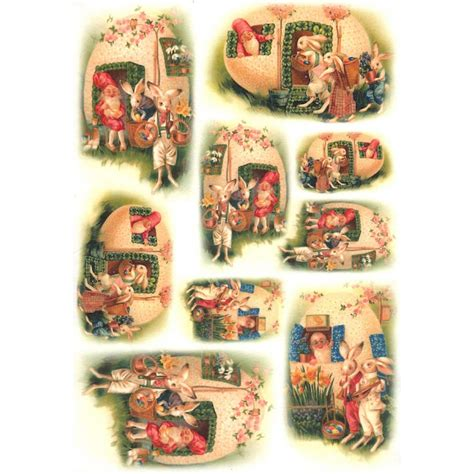 decoupage house easter bunny egg house rice paper decoupage sheet italy