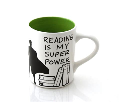 reading my reading is my power mug green book lover by