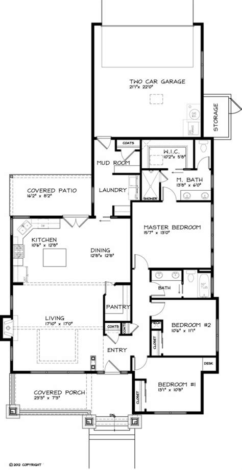 floor plans aflfpw76173 1 story craftsman home with craftsman style house plan 3 beds 2 baths 1749 sq ft