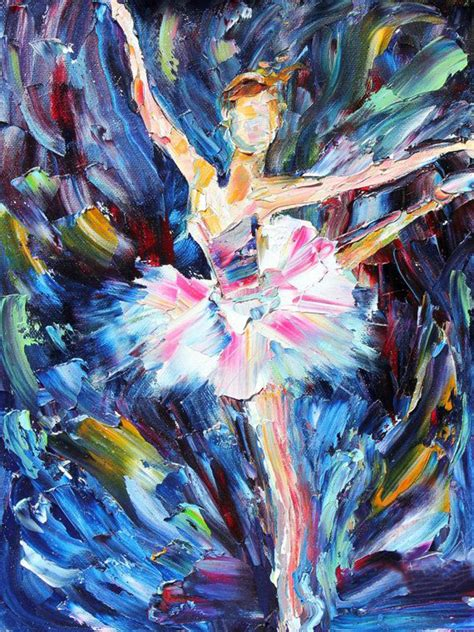 whole painting abstract dancer ballet painting on canvas