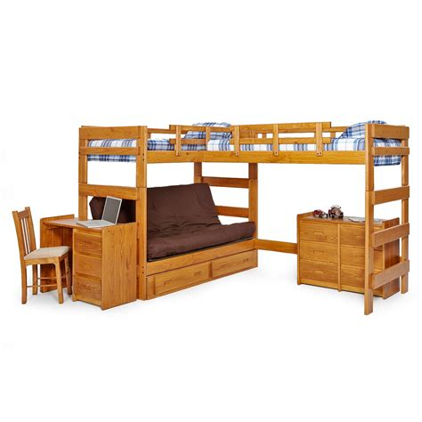futon bunk bed with storage master wcm342 jpg
