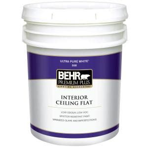 home depot 5 gallon interior paint behr premium plus 5 gal flat interior ceiling paint 55805 the home depot