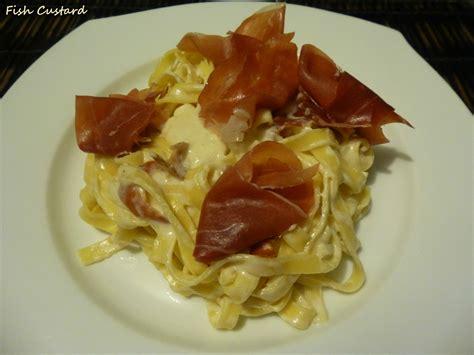 tagliatelle 224 la cr 232 me de parmesan et jambon de parme fish custard