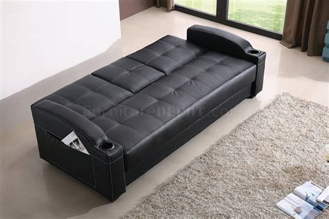 modern convertible sofas black leatherette modern convertible sofa bed