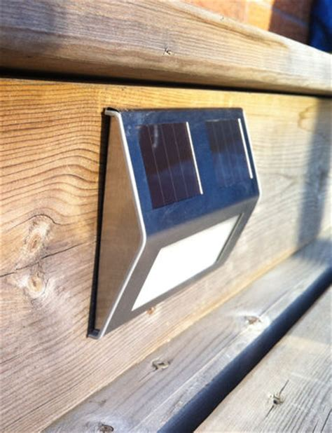 solar lights for stairs solar deck lights set of 4 solar step lights solar