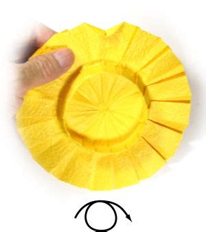 origami sunflower step by step how to make an origami sunflower page 9