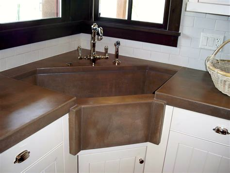 kitchen corner sinks concrete kitchen countertops and sinks az