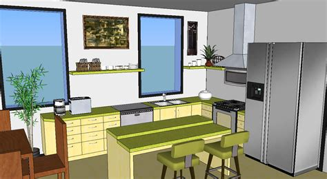 designing a kitchen with sketchup oreos design portfolio sketchup kitchen