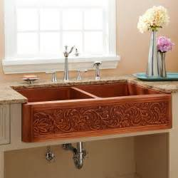 farmhouse copper kitchen sink 42 quot vine design bowl copper farmhouse sink kitchen