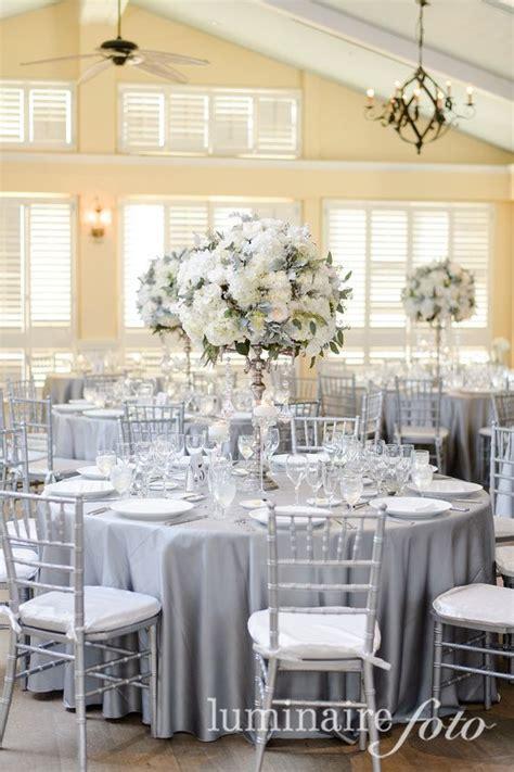 silver table decorations for platinum linens silver chiavari chairs ritz carlton