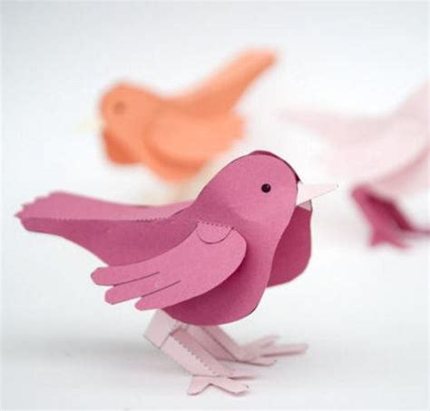 all free paper crafts 3d paper bird free printable allfreepapercrafts