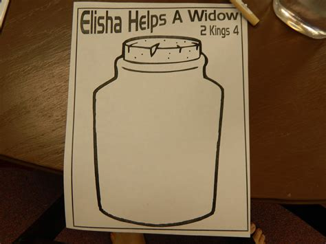 elijah and the widow crafts for on bible elisha and the widow