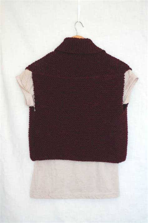 easy knit vest for beginners coze easy knit vest pattern laylock knitwear design