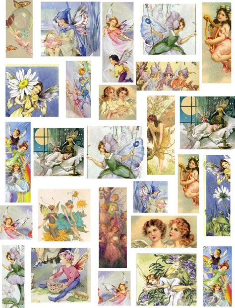 free printable decoupage sheets decoupage paper collage sheets fairies flowers