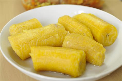 bananes plantains bouillies