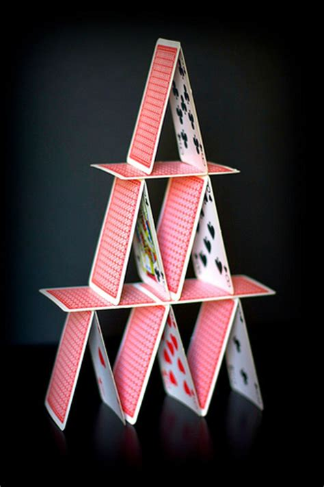 how to make a card pyramid cards pyramid flickr photo