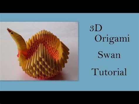 3d origami tutorial 3d origami swan tutorial