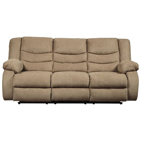 designer reclining sofa signature design by tulen contemporary reclining