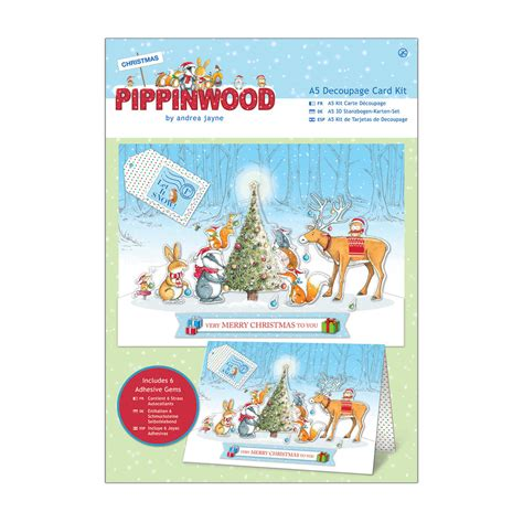decoupage card kits a5 decoupage card kit linen pippinwood pma