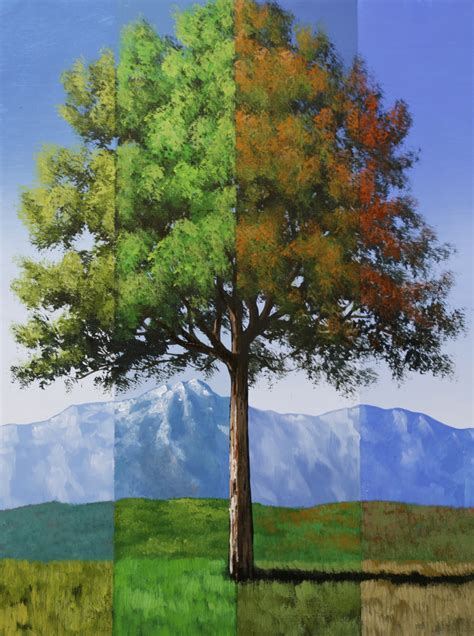 acrylic paint trees surreal timeline tree series 4 lesson set acrylic