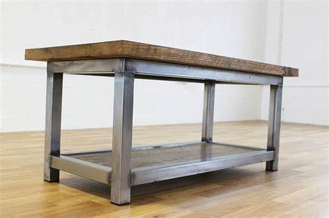 industrial steel coffee table vintage industrial style coffee tables oak and steel