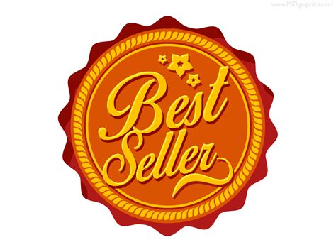best free best seller label psd psdgraphics