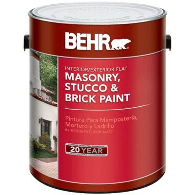 home depot stucco paint colors behr 1 gal white flat masonry stucco and brick paint