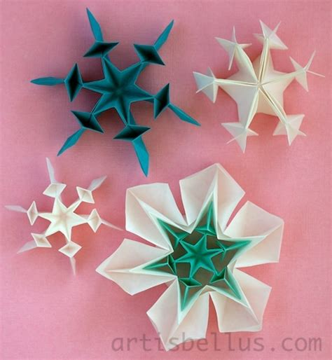 snow origami origami snow flakes paper