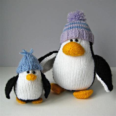 knitted penguin bobble and penguins knitting patterns on luulla