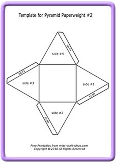 how to make a card pyramid make a pyramid paperweight