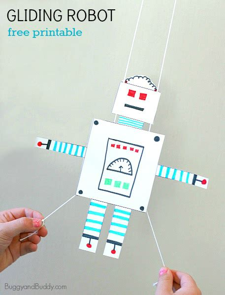 Stem Activity For Free Printable Gliding Robot