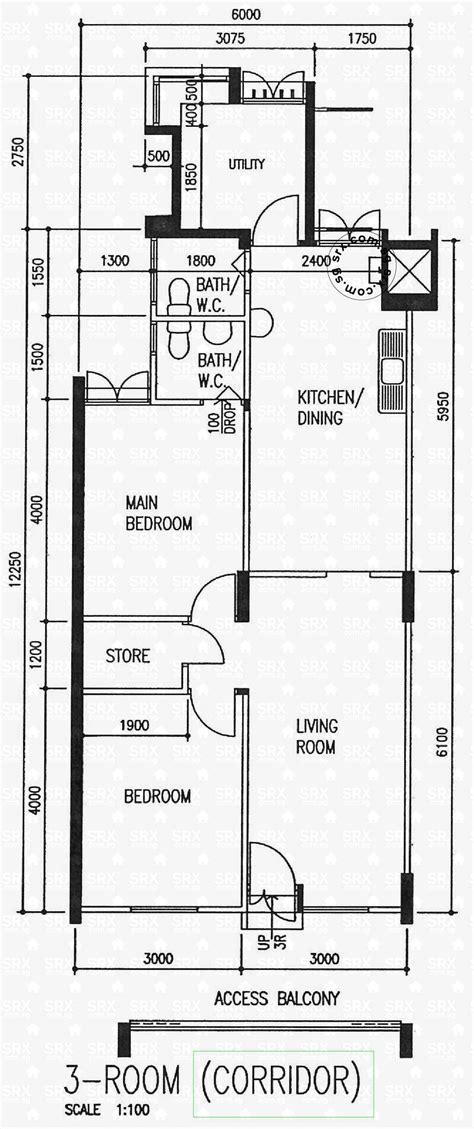 3 Room Flat Floor Plan 457 ang mo kio avenue 10 s 560457 hdb details srx property