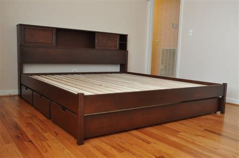 size platform bed plans platform bed frame plans howtospecialist how to build step