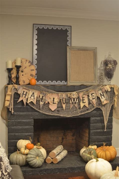 fireplace decorations for 18 spooktacular ideas for your fireplace mantel