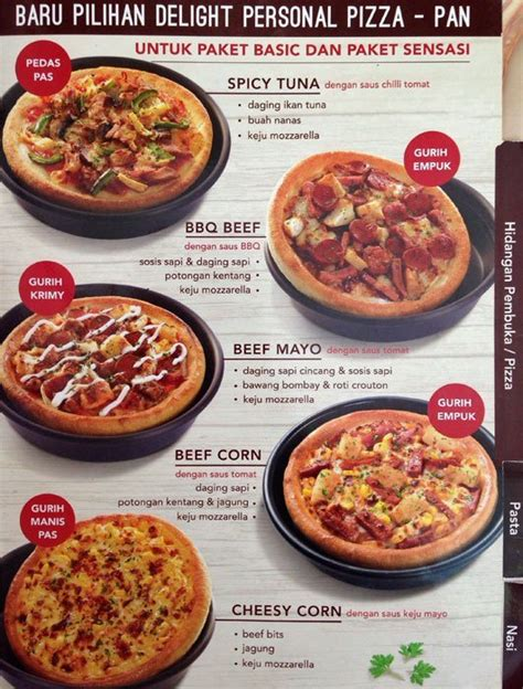 pizza hut lunch buffet menu pizza hut menu menu for pizza hut cihelas bandung