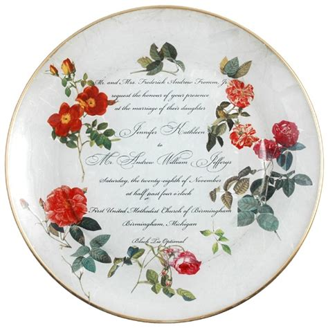 decoupage plates with photos decoupage wedding plate crafts sewing furniture diy